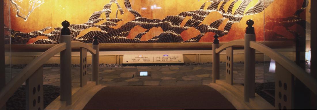 戸倉上山田温泉 千曲館の壁面パネル(長野県千曲市) 2
