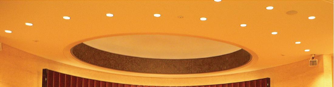 寺院の祭壇のための壁面パネル・テーブルの天板・厨子展示コーナー 1