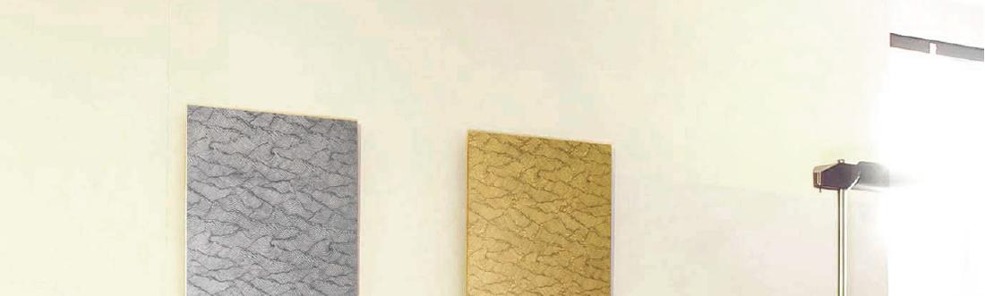 URUSHI Art panelアートパネル LX タイプ「金の波」・「銀の波」2
