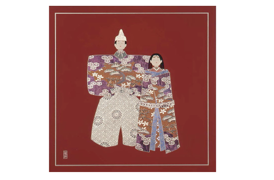 URUSHI Art panelアートパネル MSタイプ MS-35U 溜 立雛