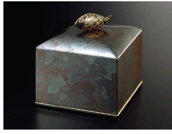 Jewelry box 二段宝石箱 銀古木 魚付