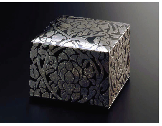 Jewelry box 二段宝石箱 銀の唐草