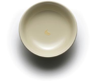 三色の豆皿(MAME dish of three colors)素色 金彩