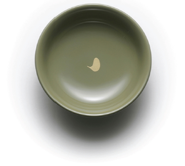 三色の豆皿(MAME dish of three colors)灰緑 金彩