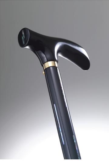 おしゃれなステッキ(URUSHI Stylish stick)黒線貝