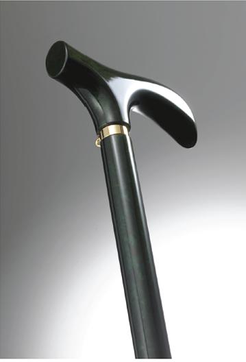 おしゃれなステッキ(URUSHI Stylish stick)細か箔エメラルド