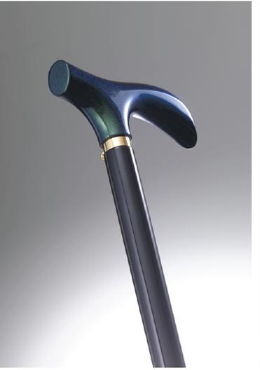 おしゃれなステッキ(URUSHI Stylish stick)モルフォグリ一ン& 黒