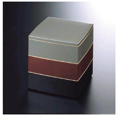 重箱(JU-BAKO URUSHI Lacquerware) Y-404 55 胴張三段 宗達