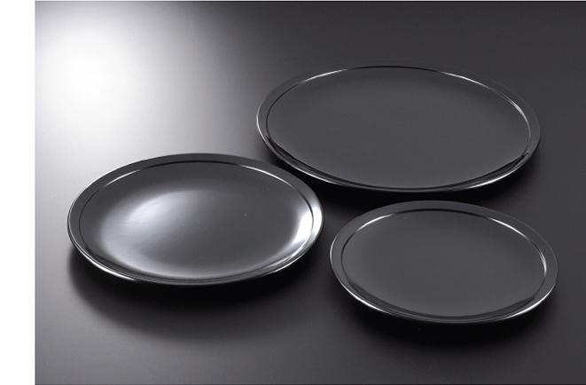 素黒目の器(SUGOROME URUSHI Lacquerware) 黒 平皿