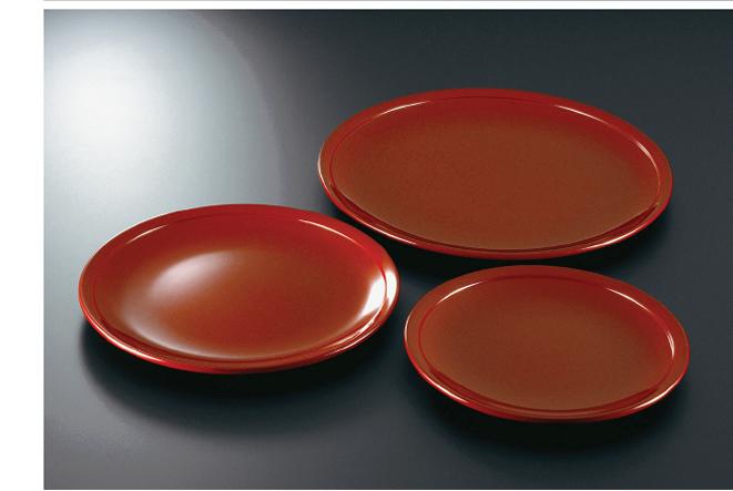 素黒目の器(SUGOROME URUSHI Lacquerware) 本朱 平皿