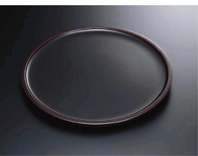素黒目の器(SUGOROME URUSHI Lacquerware) Y-141 溜 尺〇丸盆