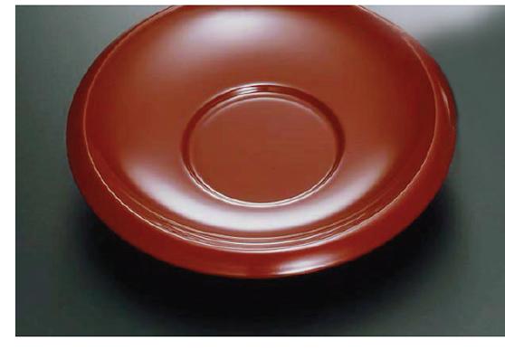 素黒目の器(SUGOROME URUSHI Lacquerware) Y-145 H 本朱 50 古代茶托