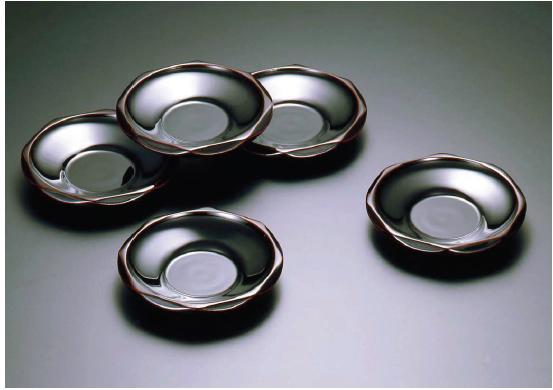 木地呂(KIJIRO URUSHI Lacquerware) Y-521 溜 40 ダイヤ型茶托